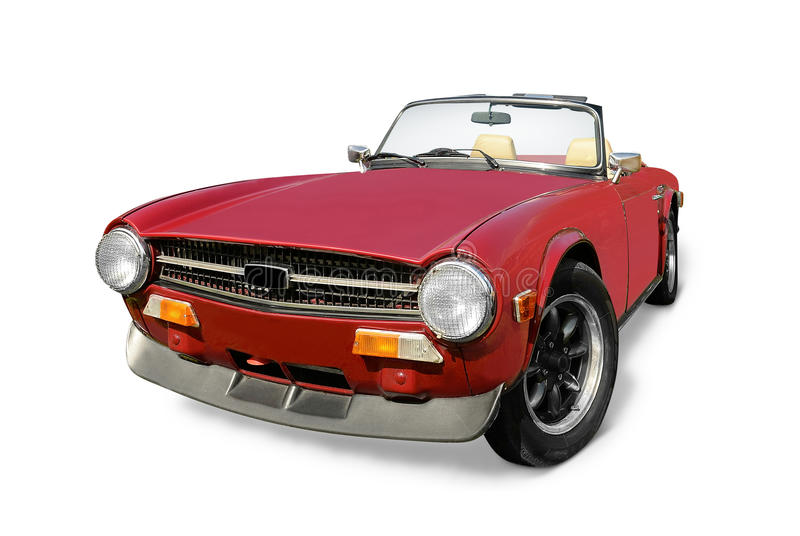 Triumph open top sports car royalty free stock image