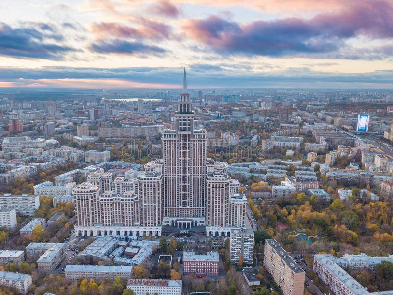 Triumph slott i Moskva royaltyfri fotografi