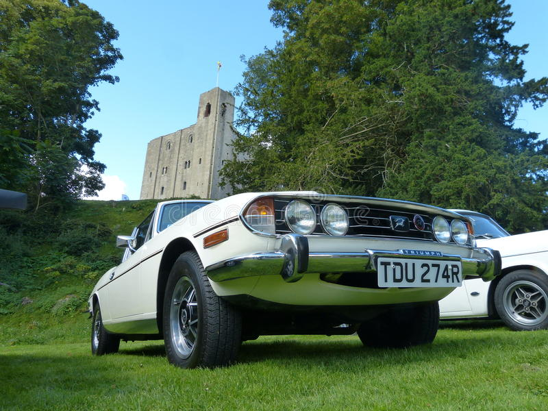Triumph Stag two door sports coupe stock photography