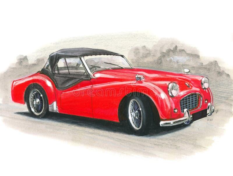 Triumph TR3A ilustracja wektor