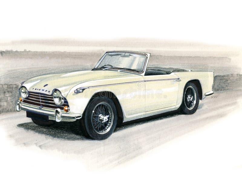 Triumph TR4 royalty ilustracja