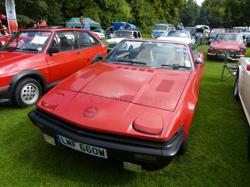 Triumph TR7 2 door coupe sports car royalty free stock images