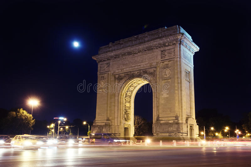 Download Triumphal arch stock image. Image of night, triumphal - 26522273