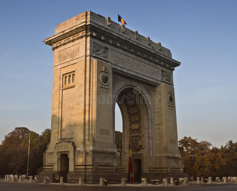 Triumphal arch-Bucharest,Romania royalty free stock images