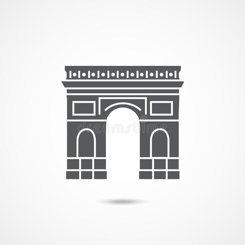 Triumphal arch icon stock illustration