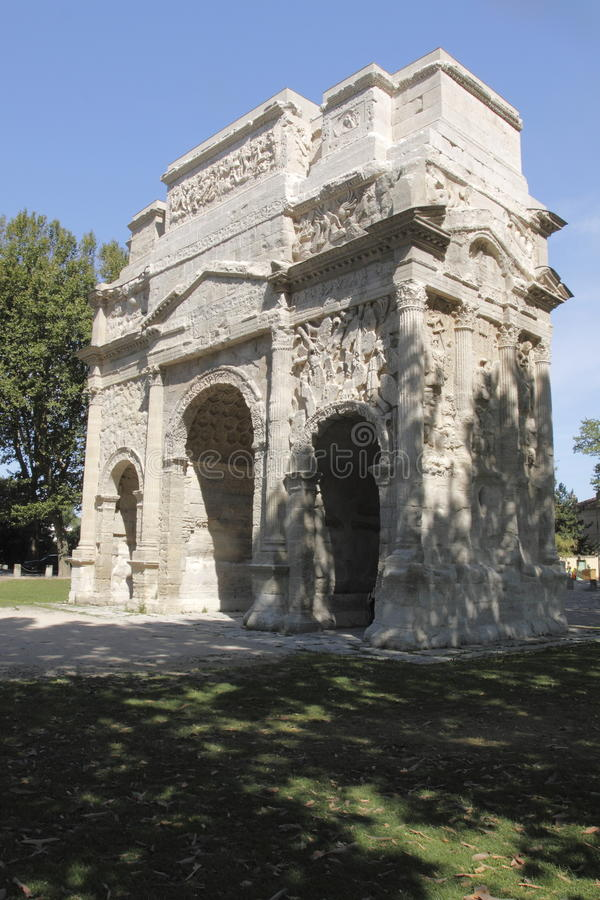 Download Triumphal arch of Orange stock image. Image of arch, france - 15100085