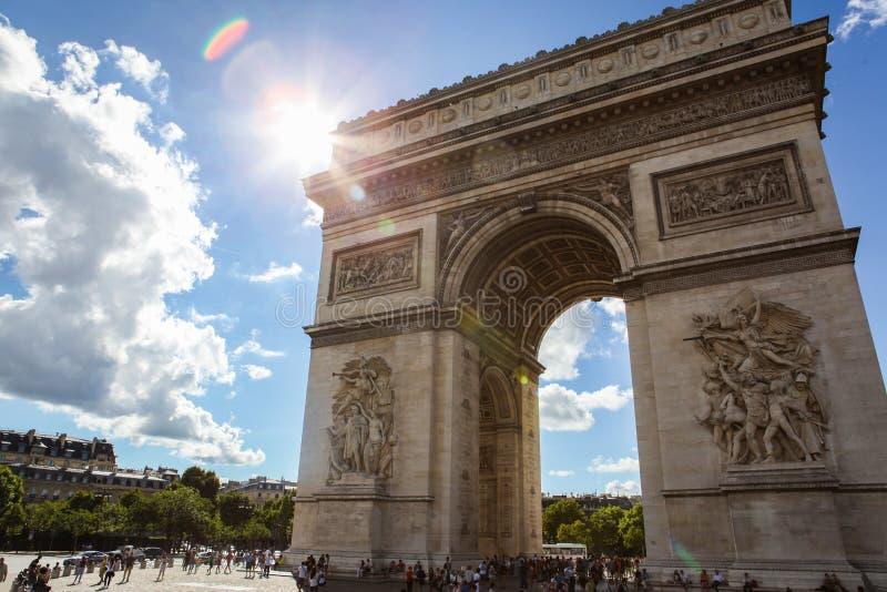 Triumphal Arch Paris royalty free stock photography