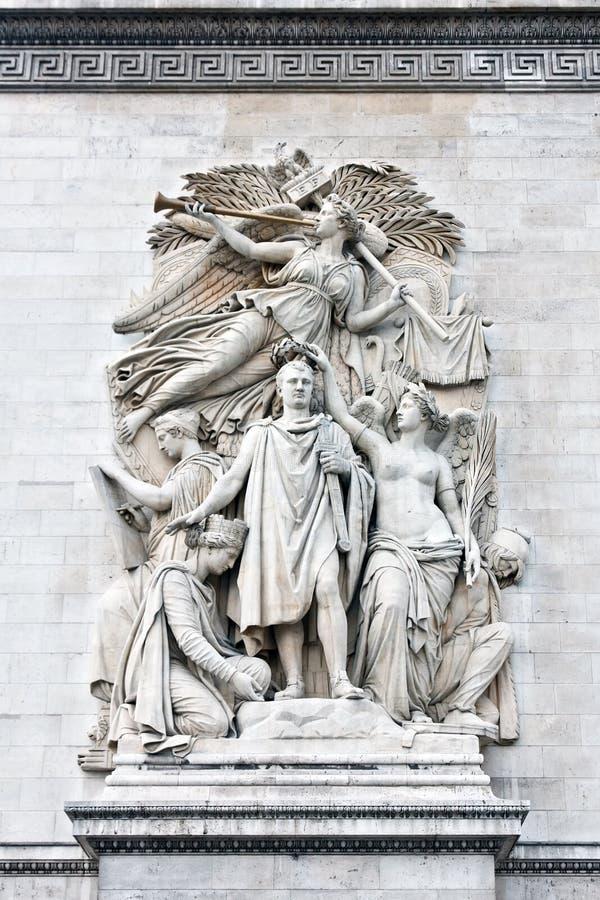 Triumphe de 1810 image libre de droits