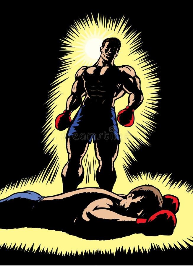 Triumphierender Boxer lizenzfreie abbildung