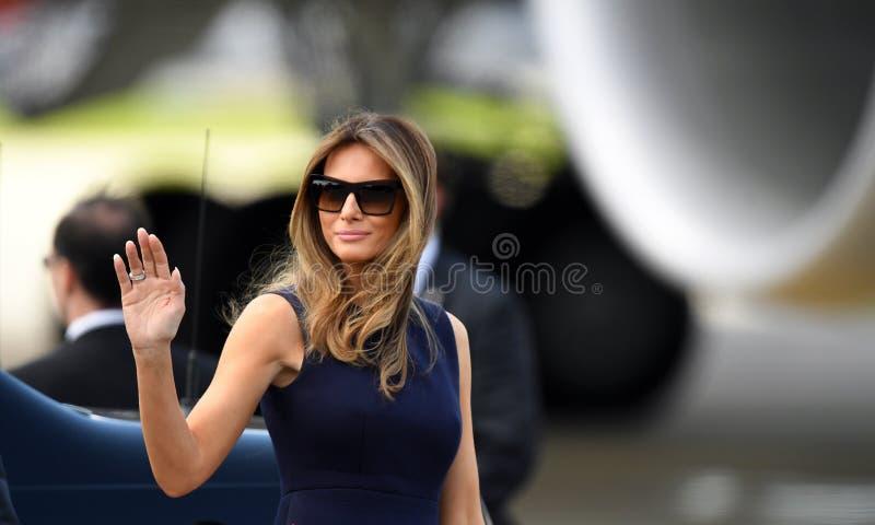 Triunfo de Donald Trump y de Melania imagen de archivo libre de regalías