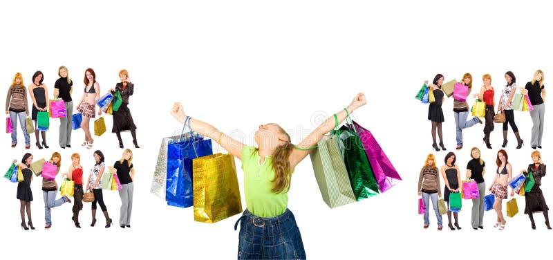 Triunfo de las compras imagen de archivo