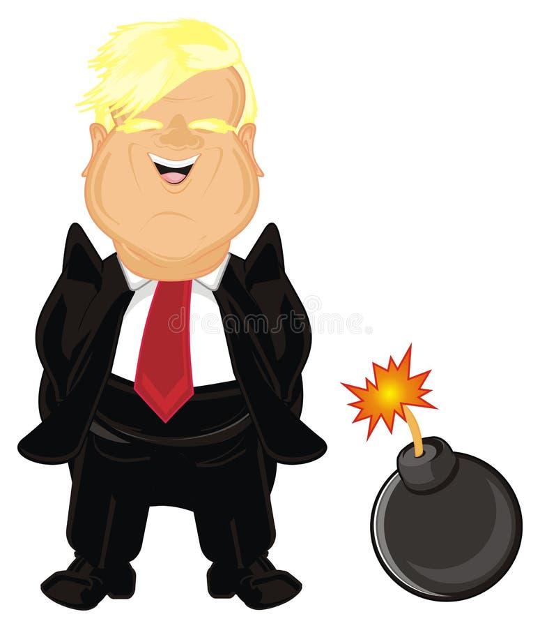 Triunfo y su bomba ilustración del vector