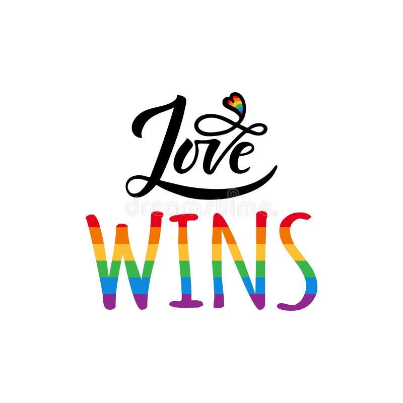 Triunfos gay del amor ilustración del vector