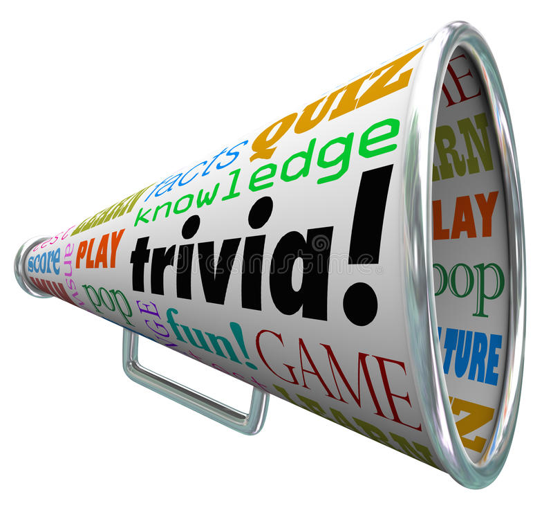 Free Trivia Knowledge Quiz Bullhorn Megaphone Test Pop Culture Royalty Free Stock Photo - 41345305