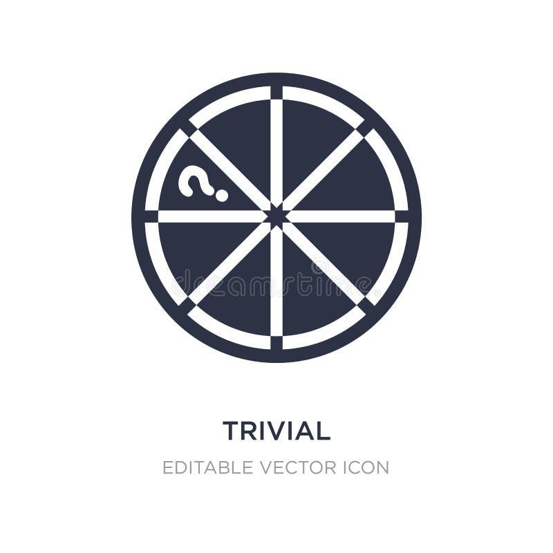 triviale Ikone auf weißem Hintergrund Einfache Elementillustration vom Spielkonzept lizenzfreie abbildung