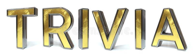 Trivialidade ao texto dourado ilustração royalty free