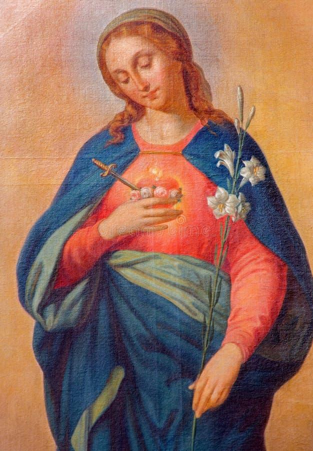 Trnava - Hart van Maagdelijke Mary stock fotografie