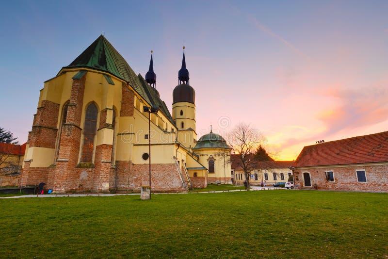 Trnava, Slovakia. Gothic basilica of saint Nicolaus in Trnava in eastern Slovakia stock photos
