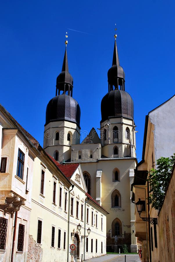 Trnava, Slovakia - September 09, 2018: the Saint Nicolas church in Trnava royalty free stock photos