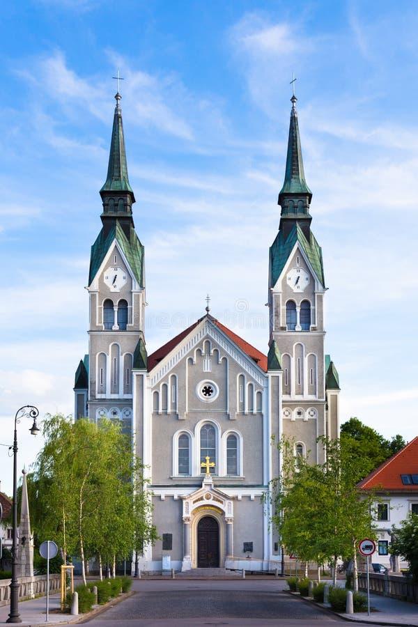Trnovo教会在卢布尔雅那,斯洛文尼亚 免版税图库摄影