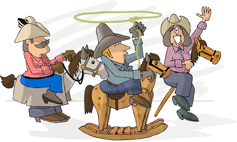 tro gör rodeoen vektor illustrationer