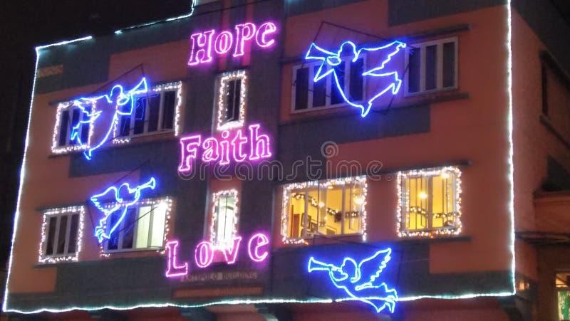 Tro, hopp och förälskelse royaltyfri foto