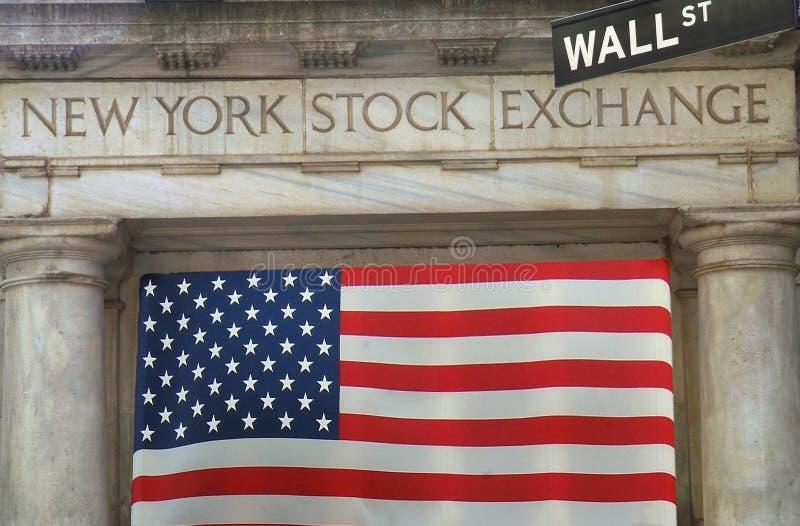 Troca conservada em estoque Wall Street de NY imagem de stock