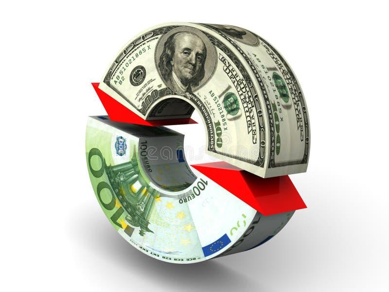 Troca. dólar. Euro- ilustração do vetor