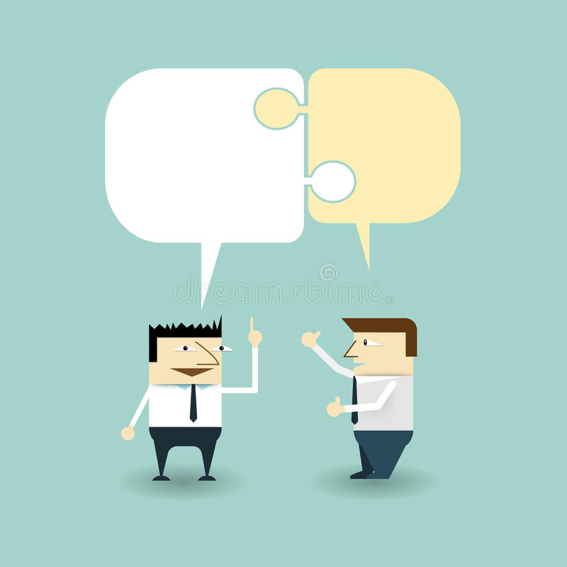 Troca da conversação entre dois homens de negócios ilustração royalty free
