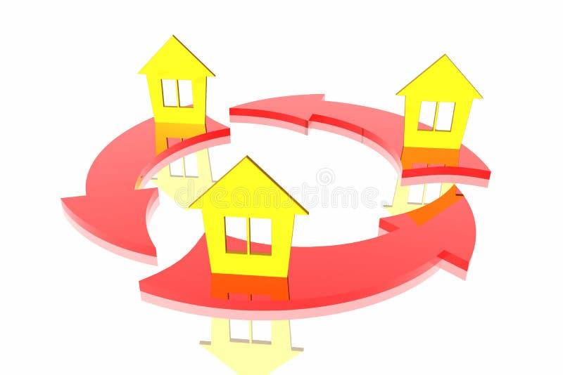 Troca das casas ilustração royalty free