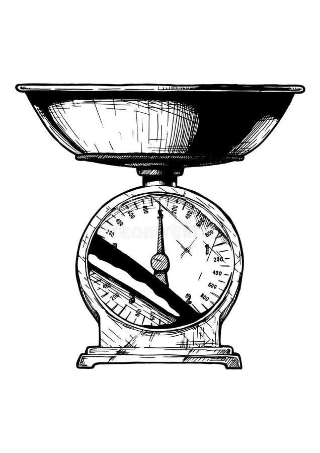 Troca das escalas mecânica ilustração royalty free