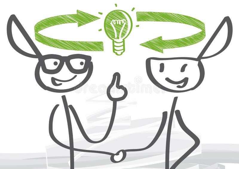 Troca das ideias ilustração stock