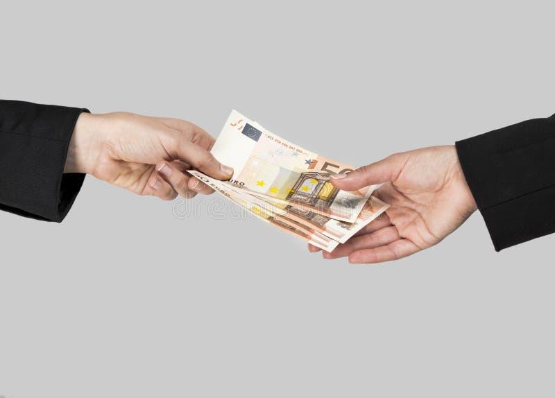 Troca de dinheiro fotos de stock