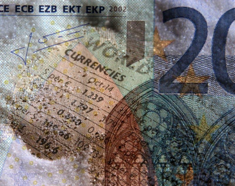 Troca de moeda ilustração stock