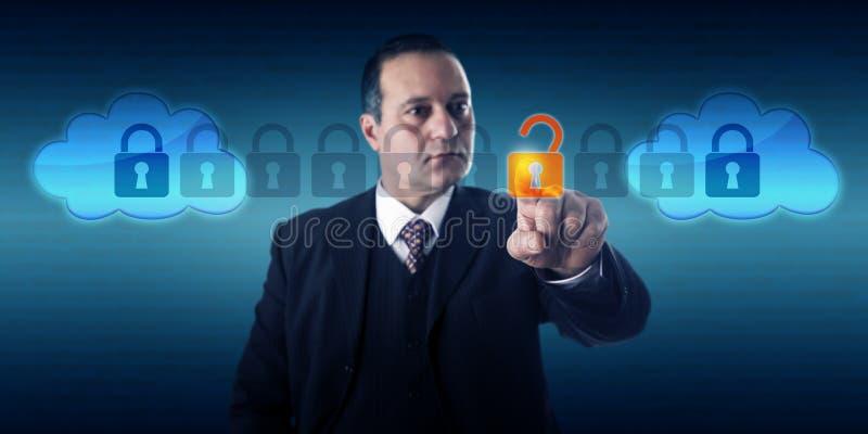 Troca de Unlocking Data In Intercloud do gerente foto de stock