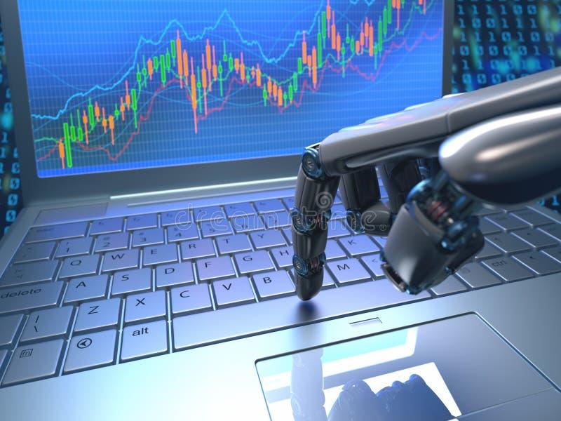 Troca do robô do mercado de valores de ação imagens de stock royalty free