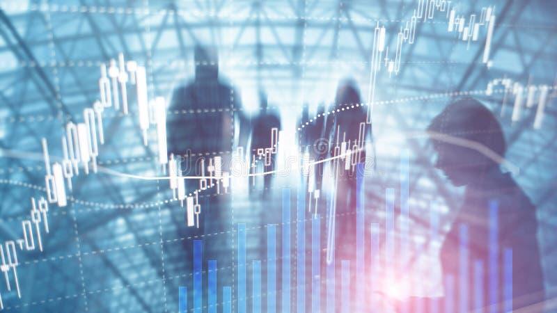 Troca dos estrangeiros, mercado financeiro, conceito do investimento no fundo do centro de neg?cios imagem de stock royalty free