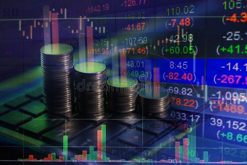 Troca financeira do mercado de valores de ação, backgro do conceito do relatório comercial imagem de stock royalty free