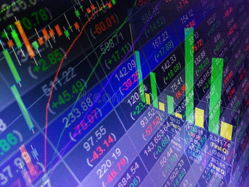 Troca financeira do mercado de valores de ação, backgro do conceito do relatório comercial imagens de stock royalty free
