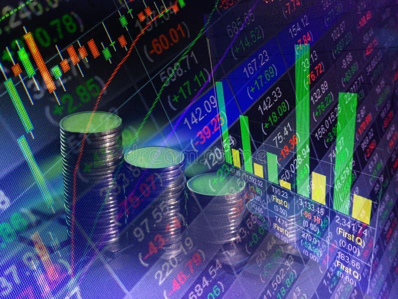 Troca financeira do mercado de valores de ação, backgro do conceito do relatório comercial fotografia de stock