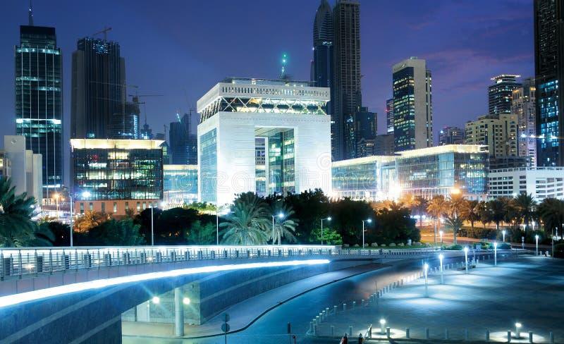 Troca financeira internacional de Dubai imagem de stock