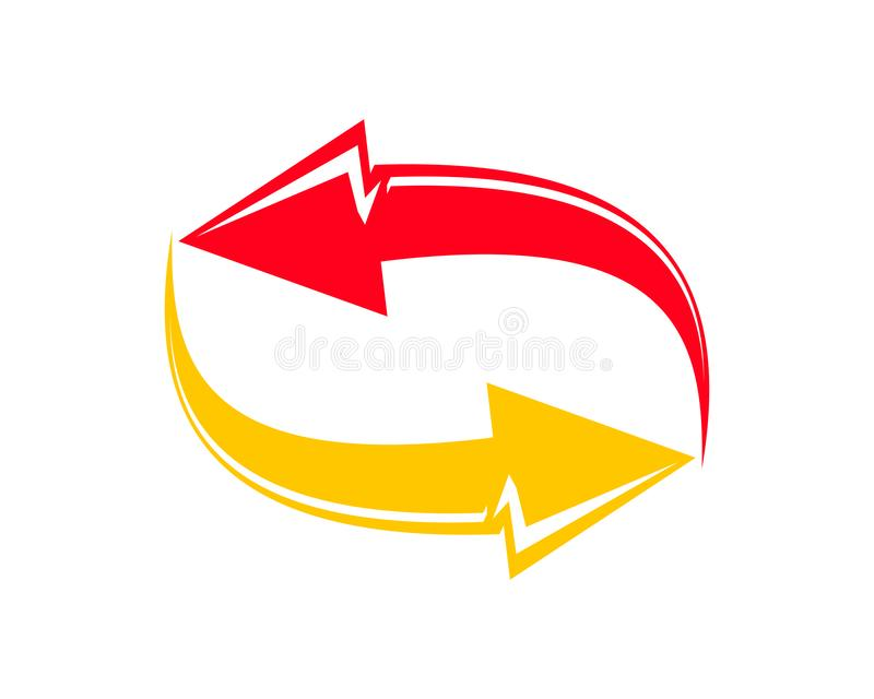 Troca Logo For Business Company, projeto simples da ideia do Logotype da troca ilustração do vetor