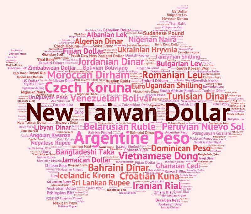 Troca nova Rate And Banknotes dos meios do dólar de Taiwan ilustração do vetor