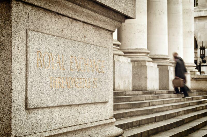 Troca real, Londres. imagens de stock royalty free