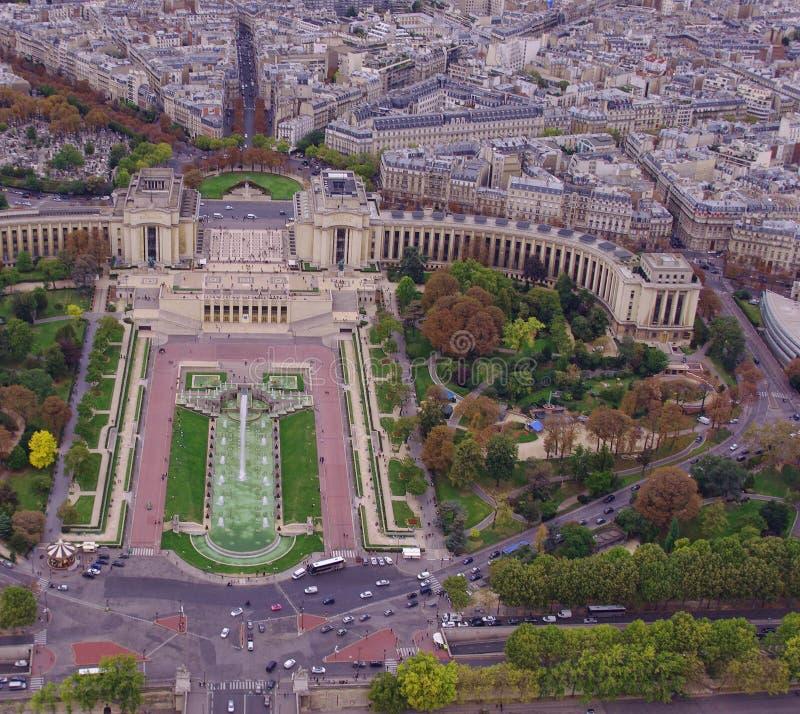 Trocadero-Gärten in Paris, Frankreich stockfoto