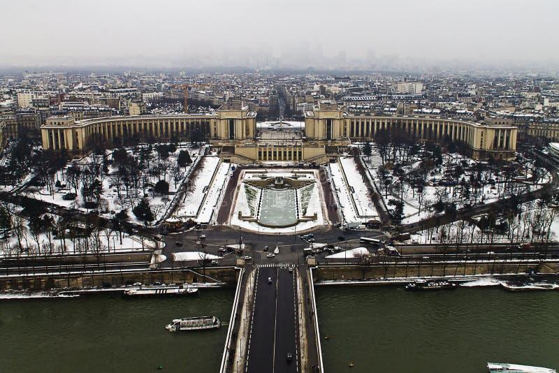 Trocadero kwadrat od wieży eifla zdjęcie stock