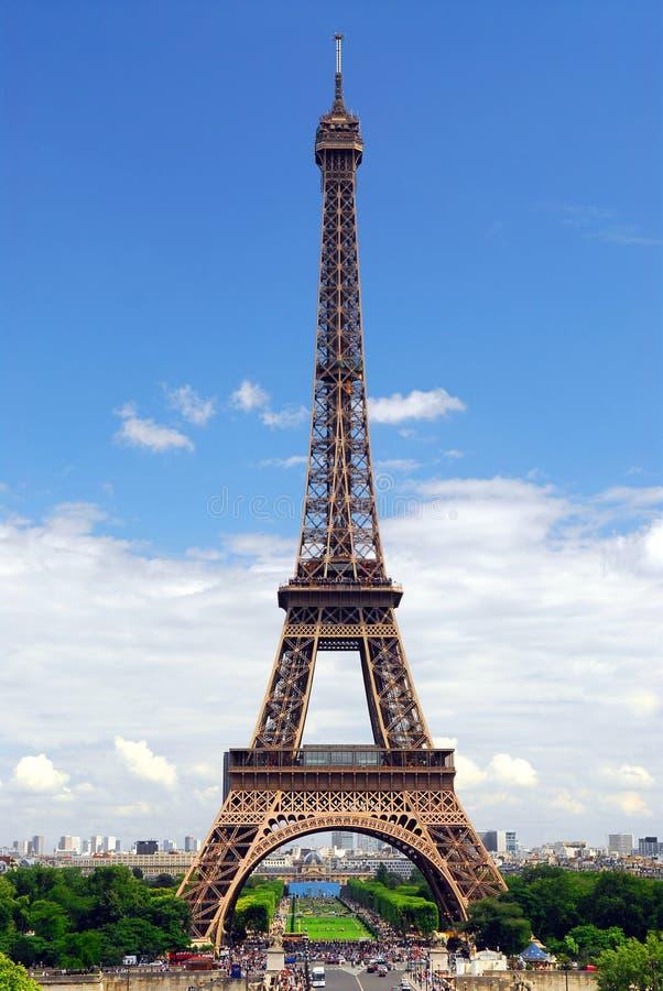 trocadero wieży eiffla zdjęcie stock