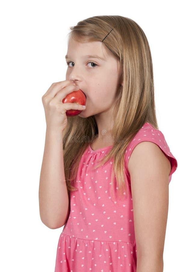 trochę łasowanie jabłczana dziewczyna obrazy royalty free