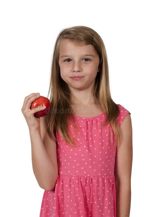 trochę łasowanie jabłczana dziewczyna obraz stock