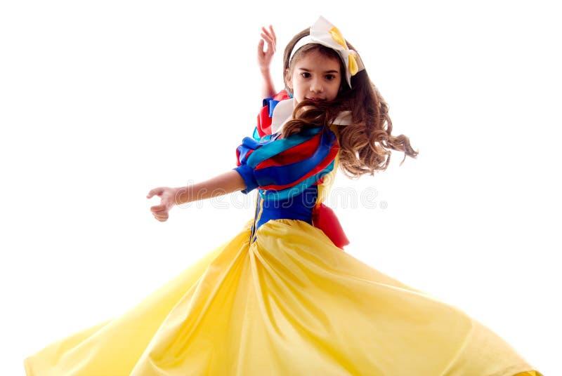 trochę śliczna dancingowa czarodziejska dziewczyna obrazy royalty free